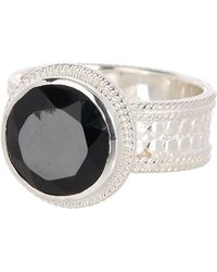 Anna Beck - Sterling Silver Black Onyx Stone Ring - Lyst