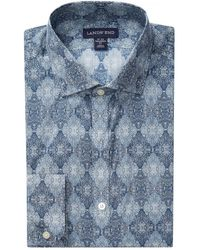 Lands' End | Tailored Fit Liberty Dress Shirt | Lyst