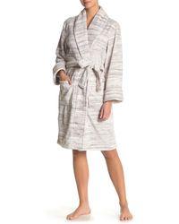 Daniel Buchler Space Dye Faux Fur Robe - Gray