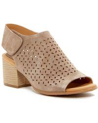 Kork-Ease Cayleigh Perforated Block Heel Sandal - Brown