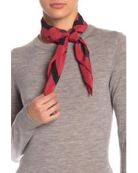 Love Moschino Heart Crepe Silk Square Scarf - Red