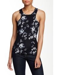 Lily White - Printed Racerback Tank - Lyst