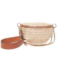 Steve Madden Marty Straw Belt Bag - Natural