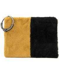 Sam Edelman Mavis Faux Fur Coin Purse - Yellow