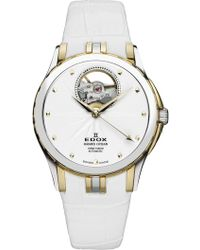 EDOX Watches Women's Grand Ocean Open Vision Swiss Automatic Watch, 33mm - Metallic