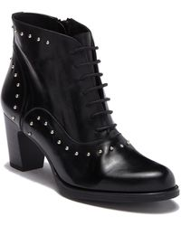 Patricia Green - Helen Leather Studded Stacked Heel Bootie - Lyst