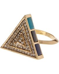 House of Harlow 1960 - Embellished Triangle Ring - Lyst