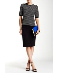 Philosophy Apparel - Solid Ponte Pencil Skirt - Lyst