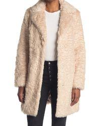Karl Lagerfeld Textured Faux Fur Jacket - Natural