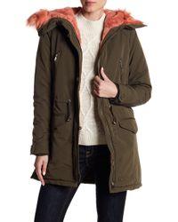 Dex - Faux Fur Hooded Parka - Lyst
