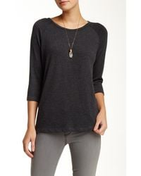 Go Couture - 3/4 Length Sleeve Scoop Neck Sweater - Lyst