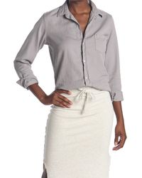 Frank & Eileen Barry Solid Classic Tailored Fit Shirt - Gray