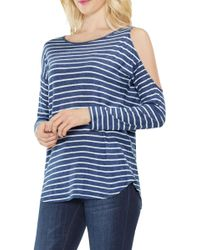 Two By Vince Camuto - Rapid Stripe Top - Lyst