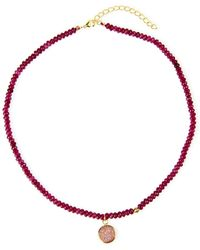 Saachi Beaded Choker - Red