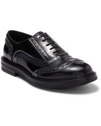 Attilio Giusti Leombruni Wingtip Leather Oxford - Black