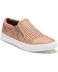 Report - Alexa Perforated Zip Sneaker - Lyst