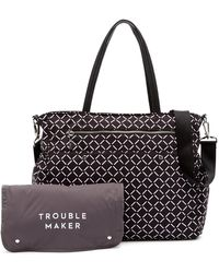 MILLY - Printed Leather Diaper Bag - Lyst