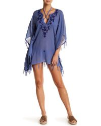 Letarte - Floral Embroidered Tassel Tunic - Lyst