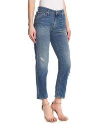 Lucky Brand Sienna Distressed Slim Boyfriend Jeans - Blue