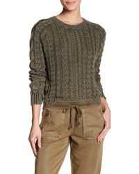 Marrakech | Sarah Washed Cable Knit Sweater | Lyst