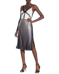 Jason Wu Ombre Charmeuse Silk Knee Length Skirt - Gray