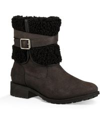 UGG Blayre Iii Pure Wool Cuff Bootie - Black