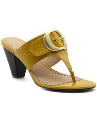Adrienne Vittadini Polka Thong Toe Stacked Heel Sandal - Multicolor