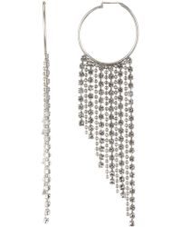 Loren Hope - Joan Crystal Chain Hoop Earrings - Lyst