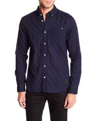 Scotch & Soda - Double Weave Indigo Shirt - Lyst