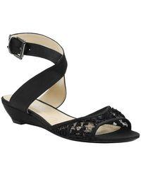 J. Reneé Belden Wedge Sandal - Wide Width Available - Black
