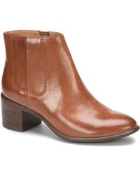 Söfft - Pueblo Leather Block Heel Boot - Lyst