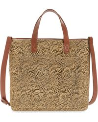 Madewell The Zip Top Small Spotted Calf Hair Transport Crossbody Bag - Multicolor