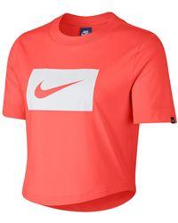 Nike - Logo Crop Tee - Lyst