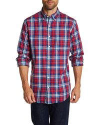 Lands' End - Button-down Collar Plaid Tailored Fit Shirt - Lyst