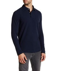 Lands' End - Long Sleeve Waffle Polo - Lyst