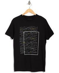 Vestige Fragment Graphic Crew Neck T-shirt - Black