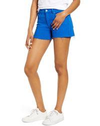 Hudson Jeans Gemma Cutoff Denim Shorts - Blue