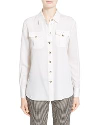 Nordstrom - Silk Twill Blouse - Lyst