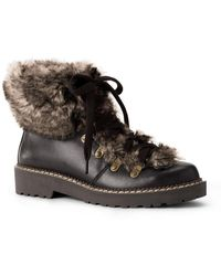 Lands' End - Faux Fur Trim Boot - Lyst