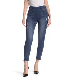 Democracy Absolution Pull On Skinny Jeans - Blue