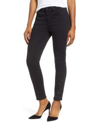 Jen7 Coated Black Jeans