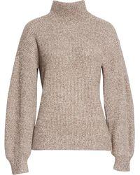 Club Monaco Marled Turtleneck Sweater - Gray