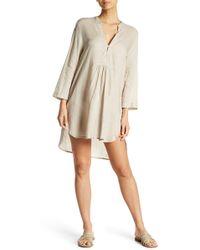 Guadalupe Design - Poppy Linen Shirt Dress - Lyst