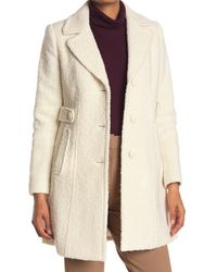 Gallery Notch Collar Boucle Coat - Natural