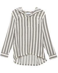 Onia Kai Popover Hooded Shirt - Multicolor