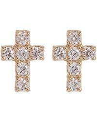 Nadri - Reminisce Pave Cz Cross Stud Earrings - Lyst