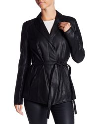 Marc New York - Farley Belted Leather Jacket - Lyst