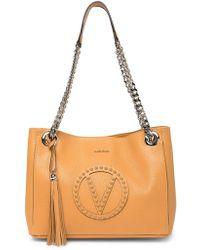 1d1c43889ec Lyst - Valentino By Mario Valentino Luisa Rock Leather Shoulder Bag ...
