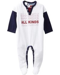 Lyst - 7 For All Mankind Stripe Footies (baby Boys) in Blue for Men 600dd89f8