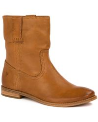 Frye - Anna Leather Short Boot - Lyst